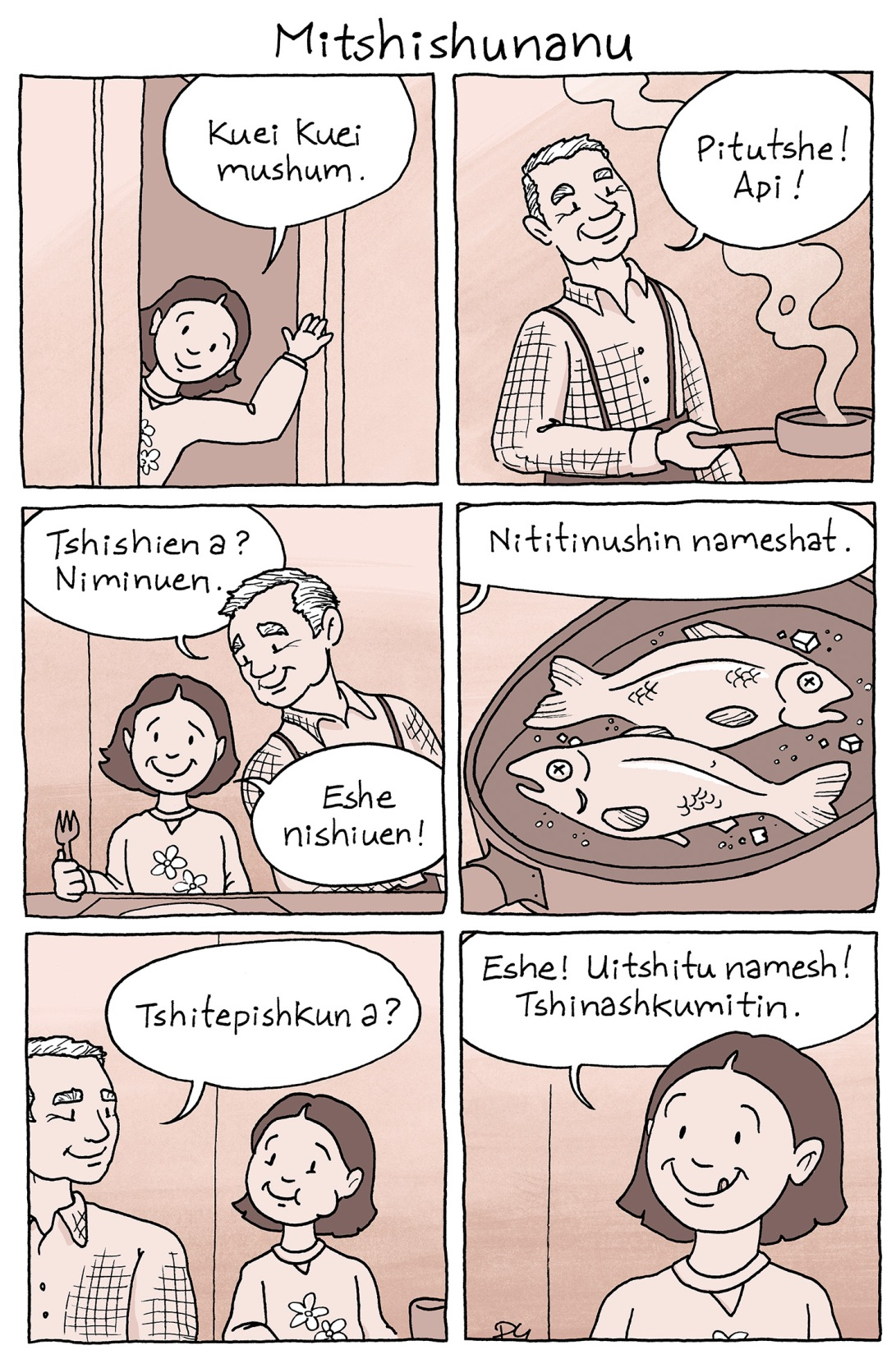 Mitshishunanu : le repas