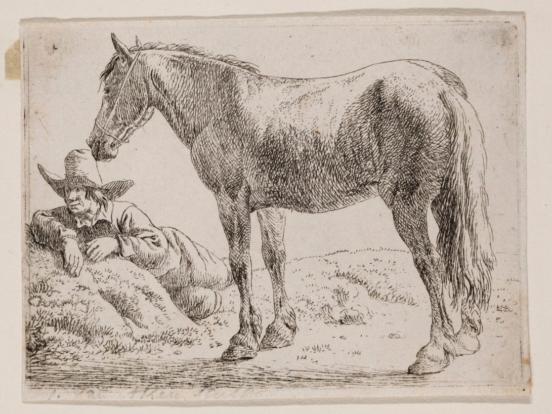 Standing Horse and Reclining Peasant